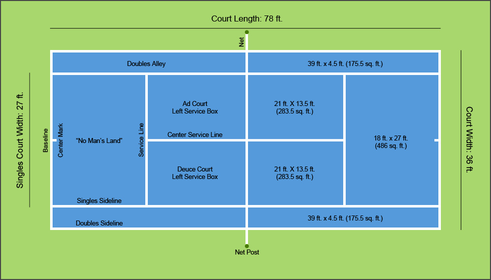 diagram of where are the parts of a plant parts of a tennis court diagram #3
