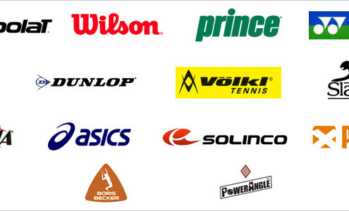 Tennis Racquet Brands and Logos