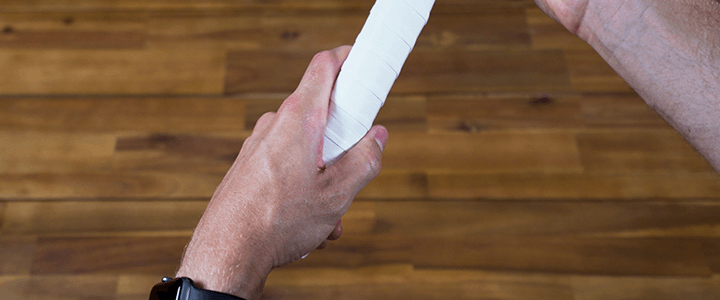 How to Hold the Continental Grip: Left Hand Top View