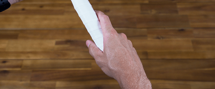 How to Hold the Continental Grip: Right Hand Top View