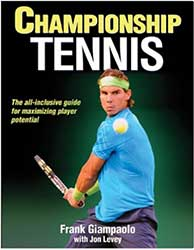 Book Cover - Rafael Nadal wearing a blue shirt about to hit a backhand