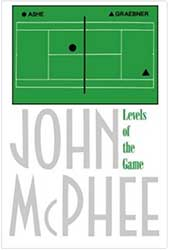 Book Cover - A simple green diagram of a tennis court with two black dots representing players