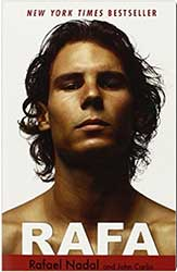 Book Cover - Rafael Nadal without a shirt looking serious