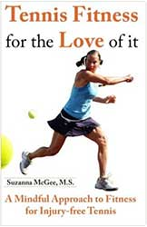 Book Cover - A photograph of a woman hitting a forehand with a tennis ball in the foreground