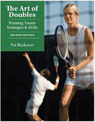 Book Cover - A player serving in the background and a player in ready position in the foreground