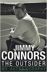 Book Cover - Jimmy Connors sitting courtside looking back at the camera