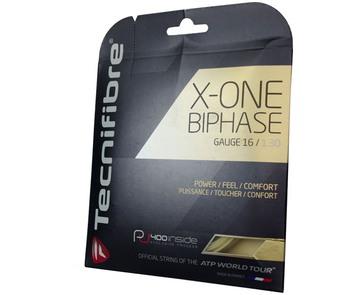 A photograph of the front of Tecnifibre X-One Biphase Package.