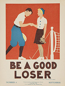 Tennis Art Gift - Be a Good Loser