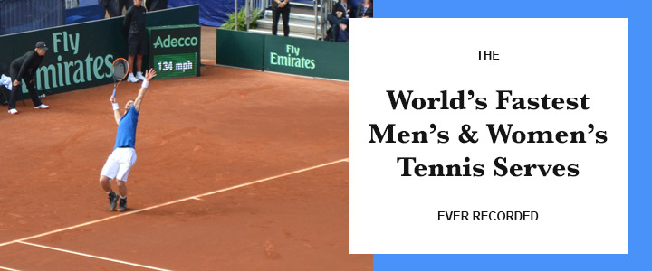 The World's Fastest Men's & Women's Tennis Serves Ever