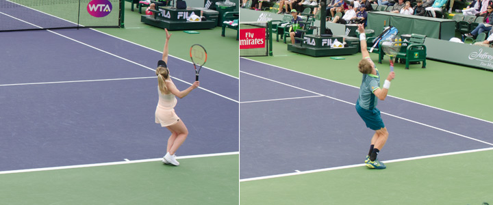 Elina Svitolina and Kevin Anderson Trophy Pose Examples