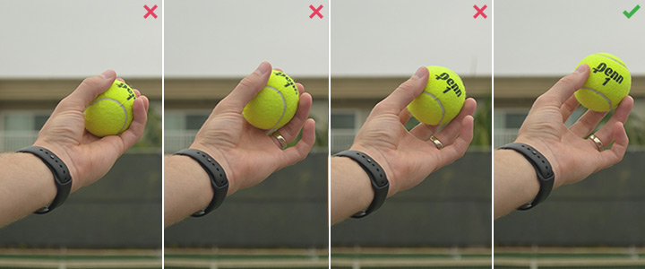 How to Hold a Tennis Ball for a Serve Toss