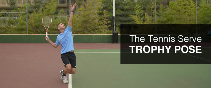 Tennis Serve Trophy Pose