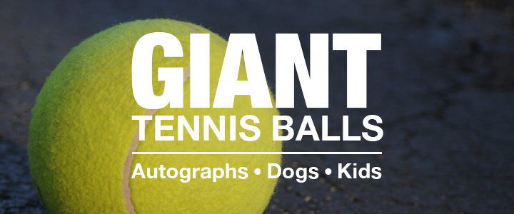 Giant Tennis Balls for Autographs, Dogs, and Kids
