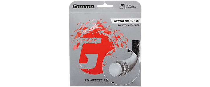 Gamma Synthetic Gut Tennis String with Solid Core & Outer Wraps