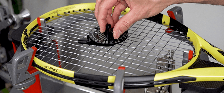 Tools for Measuring Tennis String Tension Loss Tourna Tension Tester Example