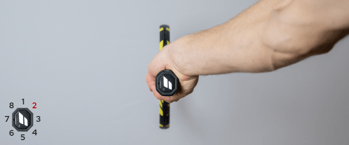 Continental Forehand Tennis Grip View from Behind Guide