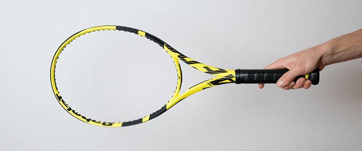 Continental Forehand Tennis Grip View from Side Upright