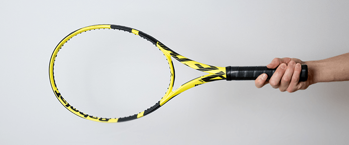 Semi-Western Forehand Tennis Grip View from Side