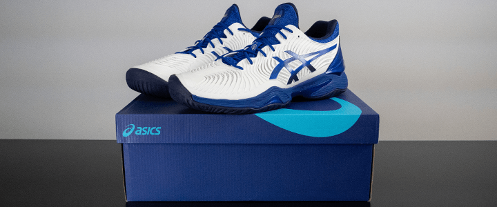 Asics Court FF 2: Shoes on Top of Box