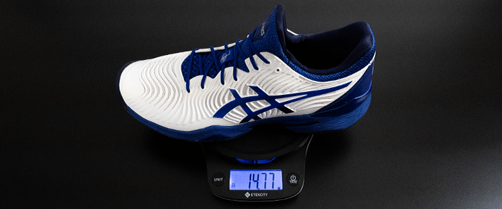Asics Court FF 2: Weight on Scale